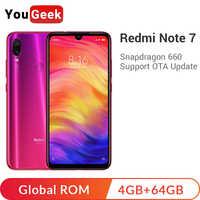 "Global ROM Xiaomi Redmi Note 7 4GB 64GB Smartphone Snapdragon 660 Octa Core 4000mAh 48MP Dual Cameras 6.3"" Full Screen Note7"