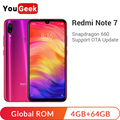 Global rom xiaomi redmi note 7 4 gb 64 gb snapdragon 660 4000 mah 48mp câmeras duplas 6.3