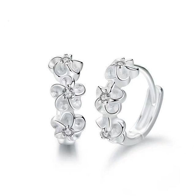 925 Sterling Silver Small Flower Earrings  6