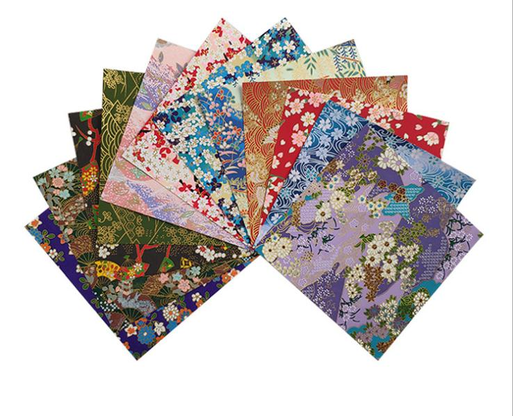 12 Pcs 13 x 13cm Colorful Floral Craft Paper Photos Decor Props Craft Paper for DIY Scrapbooking Papers Scrapbook Album image