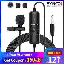 SYNCO Lav S6E Lavalier Kugelcharakteristik-kondensatormikrofon Label Mic, 6M Kabel iPhone Android Smartphone mikrofon telefon
