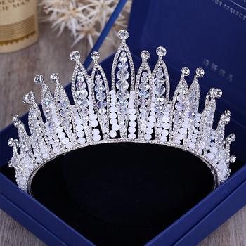 Diverse Silver Color Gold Crystal Crowns Bride tiara Fashion Queen For Wedding Crown Headpiece Wedding Hair Jewelry Accessories 2
