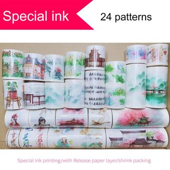 Special Ink Printing Washi Tape,Free Shipping In Coupon Washi Tape, #80256-#80279,watercolor Vintage Washi Tape,Sale Price