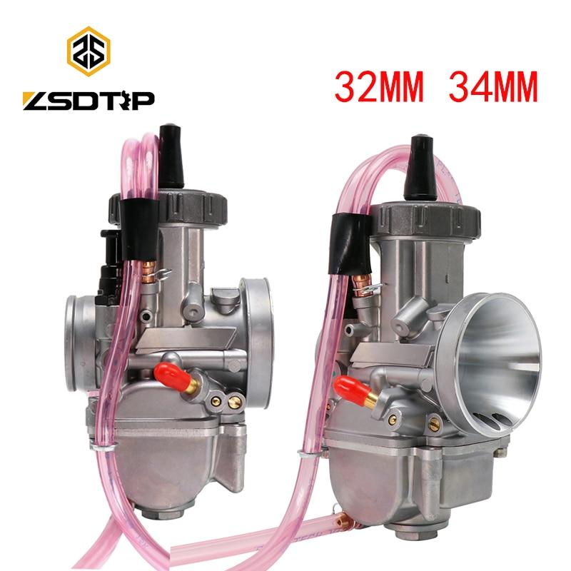 Carburateur universel de moto de carburateur de PWK de ZSDTRP pour Keihi Maikuni Dellorto Koso avec le Jet de puissance 28MM 30MM 32MM 34MM