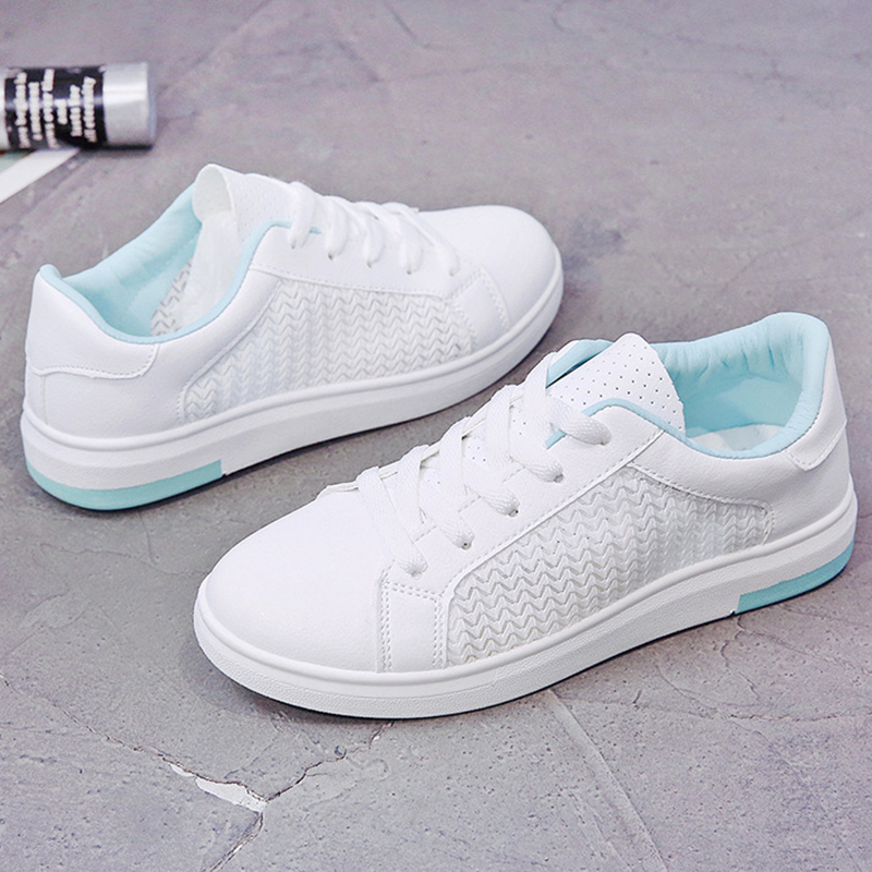 Sneakers Women Breathable Mesh Summer Autumn Women Causal Shoes Fashion White Leather Flat Walking Female Vulcanize Shoes VT1247 (21)