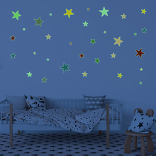 Glow in The Dark Wall Decal Home Decor Colorful Luminous Stars DIY Vinyl Stickers Bedroom Nursery Baby Kids Room Decoration stars shine in the dark kids toy 1pcs luminous peacock decoration open light toys flash led lights glow in the dark kids toys e