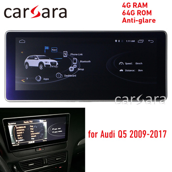 """4G RAM blue ray Android display for Audi Q5 2009-2016 10.25"""" touch screen GPS Navigation radio stereo dash multimedia player"""