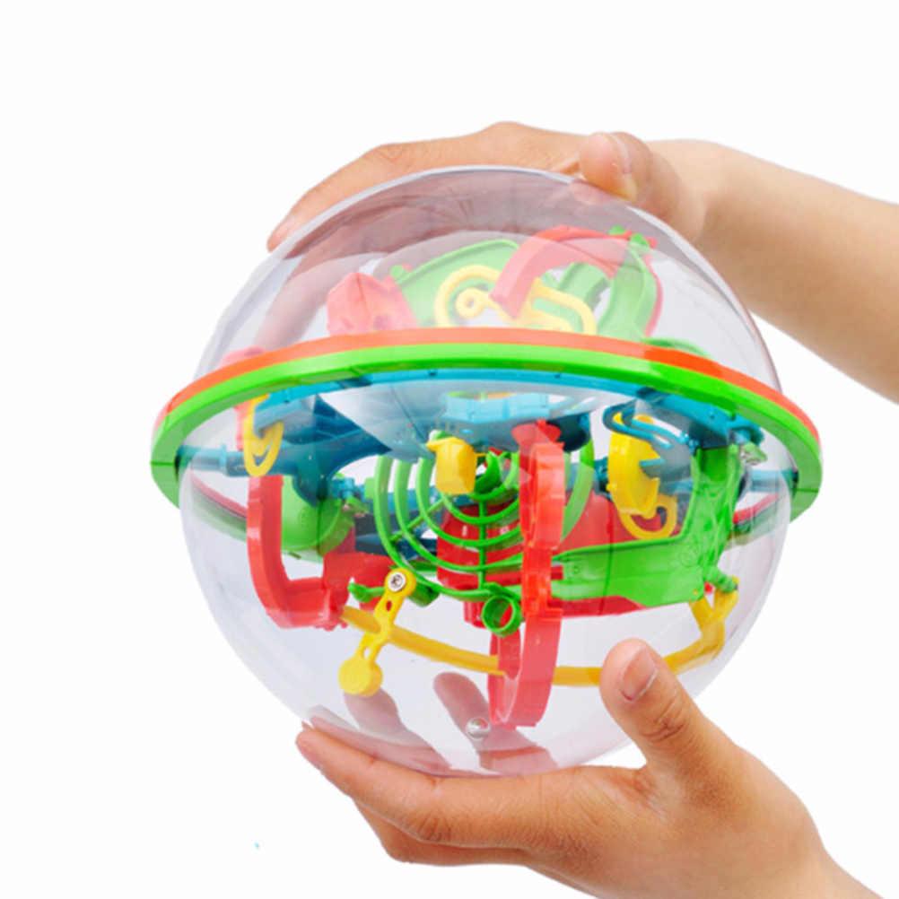 100 Bước 3D Xếp Hình Magic Trí Tuệ Bóng Mê Cung Hình Cầu Quả Cầu Đồ Chơi Thách Thức Các Rào Cản Trò Chơi Trí Não Bút Thử Cân Bằng #30