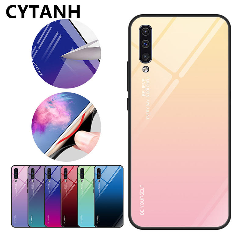 Tempered <font><b>Glass</b></font> <font><b>Case</b></font> for <font><b>Huawei</b></font> Honor 9 20 <font><b>Lite</b></font> 10i 20i Note 10 View 20 Gradient Cover for Honor 10 Light 8X Max 8A 7C 7A image