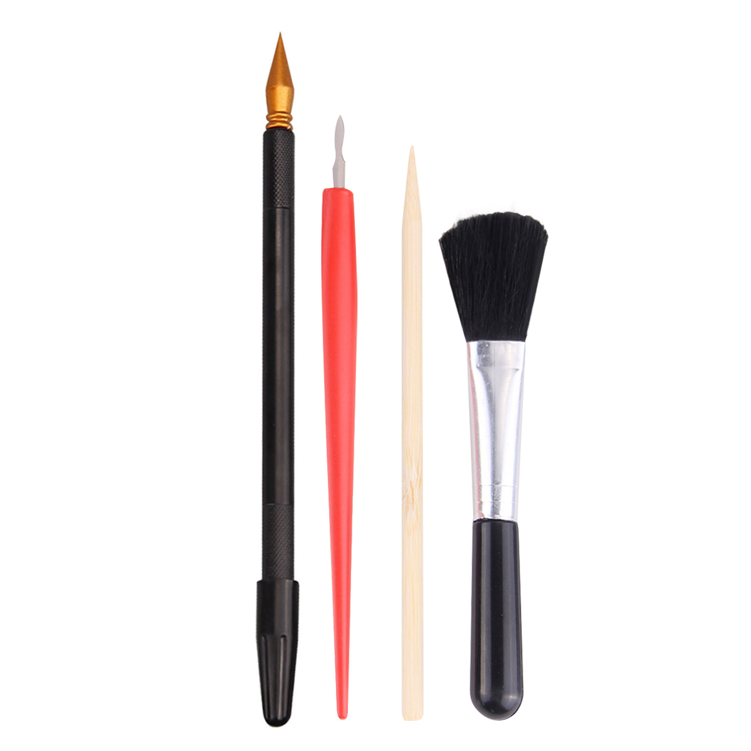 4Pcs Painting Drawing Scratch Set With Stick Scraper Pen Black Brush For Scratch Sketch Papers Boards Tools DIY Gift