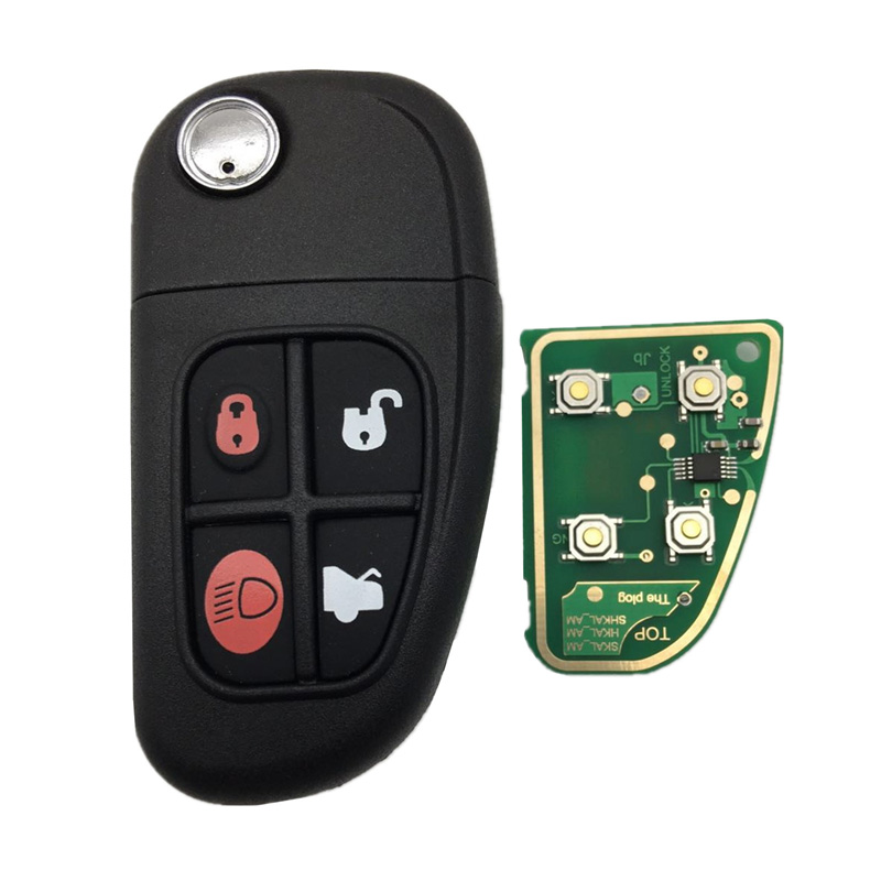 Remote Car Fob Key Keyless 4 button Folding Flip ID60 Transponder Chip Replacement|Key Shell| |  - title=