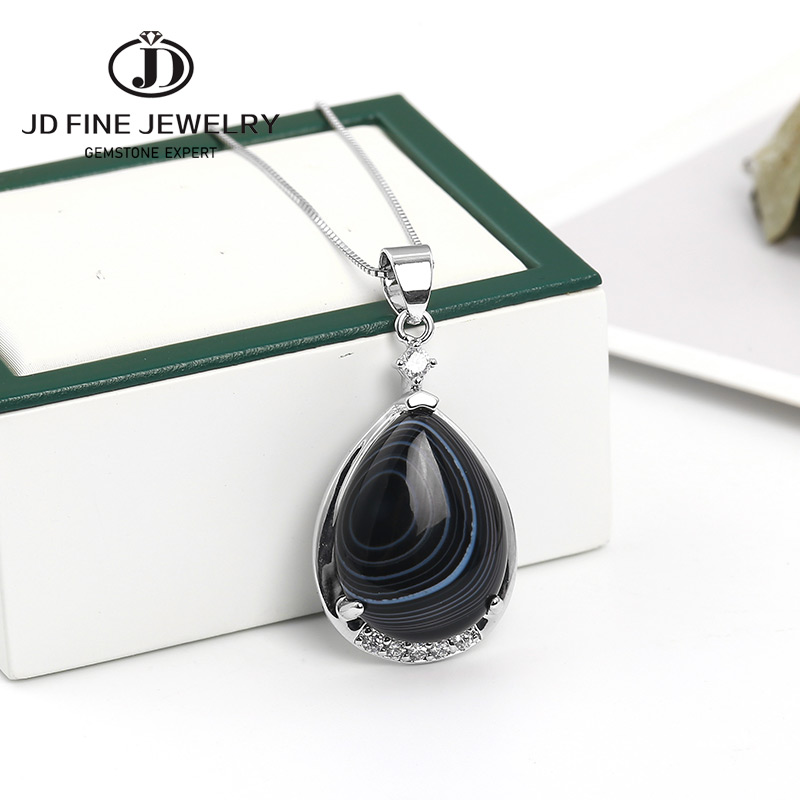Agate Women 925 Sterling Silver Pendant FREE GIFT BOX