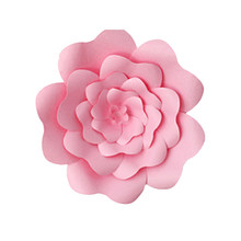 30cm DIY Wedding Paper Flower Rose Party Supplies Wall Decoration Birthday Handcrafted Home Children's Room Giant Backdrop(China)