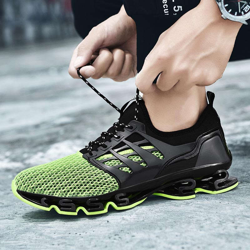 Big Size Outdoor Running Shoes Men Sport Sneakers For Men Green Mens Shoes Sports Shoes Women Black Basket Fitness Runners E-244
