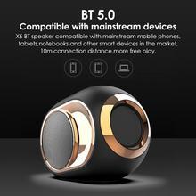 Портативный X6 Bluetooth динамик поддержка BT TF Udisk AUX FM сабвуфер беспроводной Открытый Bluetooth HiFi Звук небольшой динамик