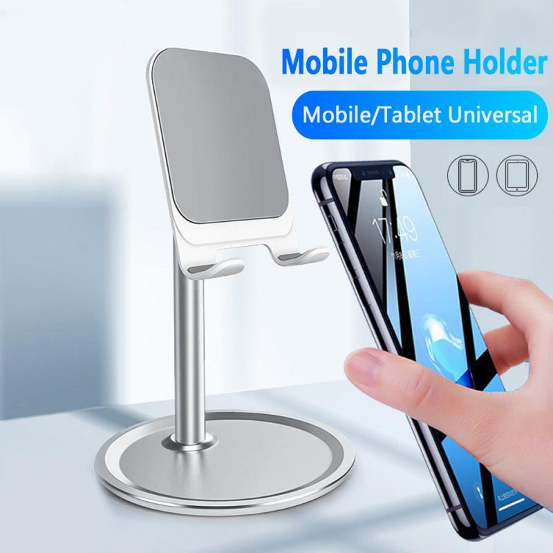 Aluminum Desktop Tablet Holder Portable Universal Cellphone Bracket All Mobile Smart Phone Desk Durable Stand Silver Black
