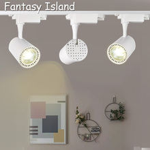 Fantasy Island background wall foyer dinner room cloth store COB Led Track Light Lamp Spotlights Fixture AC85-265V 7W