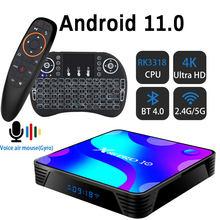X88 프로 안드로이드 11.0TV 박스 2.4G 및 5.8G 와이파이 RK3318 블루투스 4 기가 바이트 32 기가 바이트 64 기가 바이트 128G 스토어 지원 유튜브 셋톱 박스