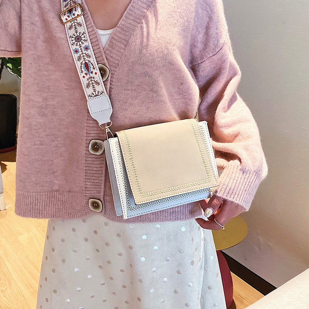 Women's Shoulder Bags Leather Large Capacity Bag Fashion Messenger Bag Trend Small Square girls Crossbody Bags Sac A Main #NG