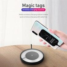 NILLKIN magiczne tagi QI bezprzewodowy odbiornik ładowania Micro USB/typ C dla iPhone 5S SE 6 6 S 7 Plus dla Samsung S6 S7 krawędzi