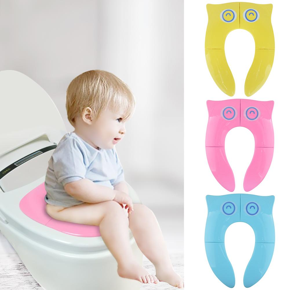 Toilet Accessories Foldable Seat Pad Non Slip Pot Chair Cushion Seat Ring Folding Design Not Occupy Space for Children