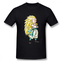 2019 Mens Basic Short Sleeve T-Shirt 3D Print t shirt Dragon Ball Transformation Cotton Funny T-shirt homme Top Tees