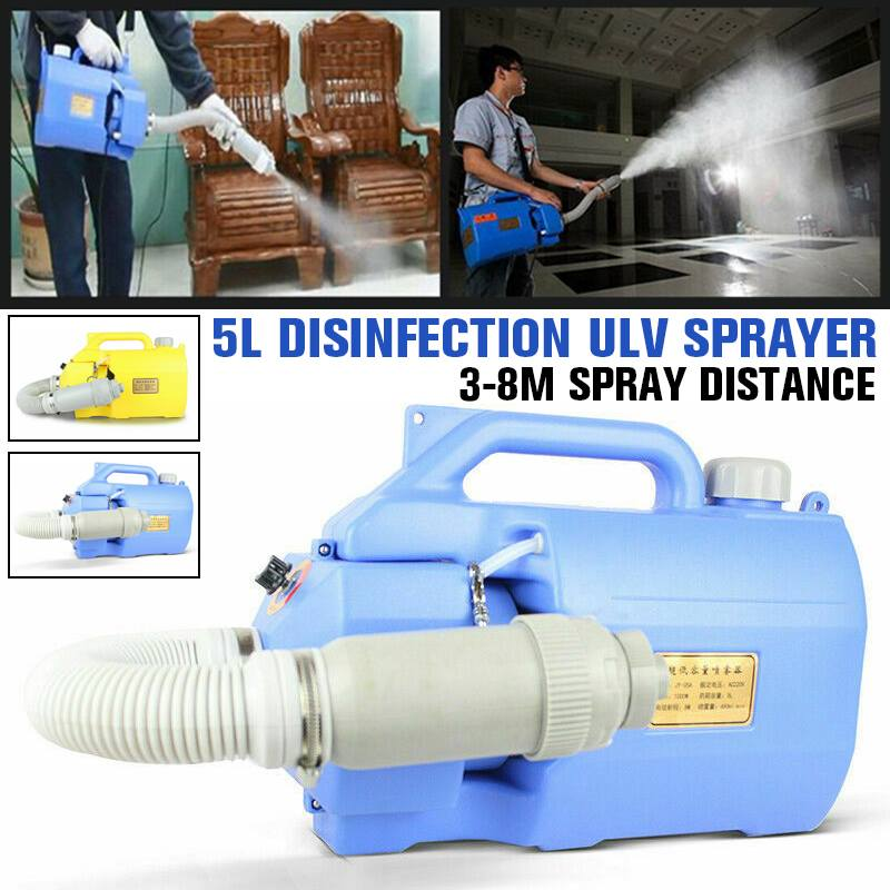 In Stock 5L Capacity Electric Disinfection Cold Fogger Machine Handheld Sterilization Sprayer ULV Fogger Disfectant Tool 220V