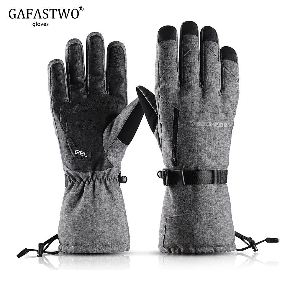 2019 Winter Ski Gloves Mens Windproof Waterproof Touch Screen Ladies Gloves Adult Outdoor Riding Thickening Pockets Warm Gloves