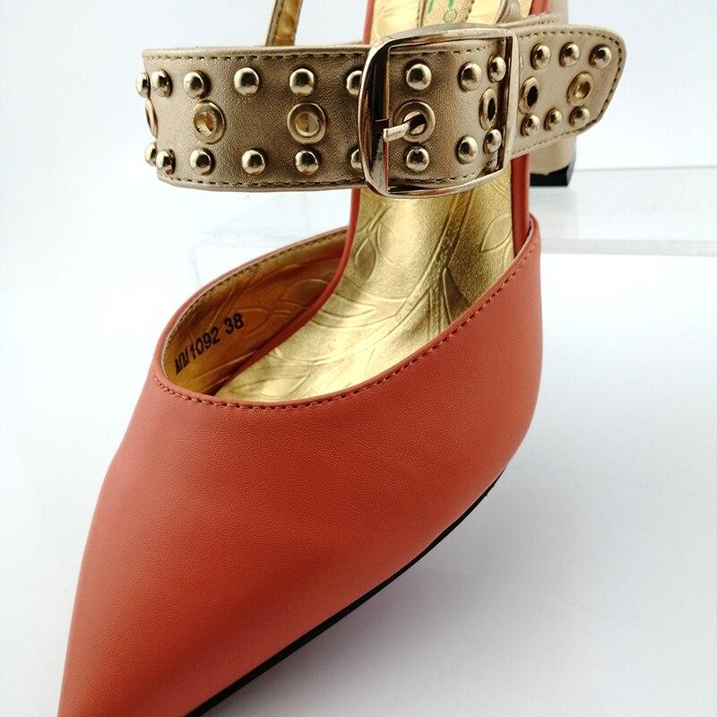 2019 africanos diseño especial señoras zapatos y bolso de Color blanco italiano Zapatos de diseño con bolsas cómodos zapatos de tacones Mujer Zapatos - 3
