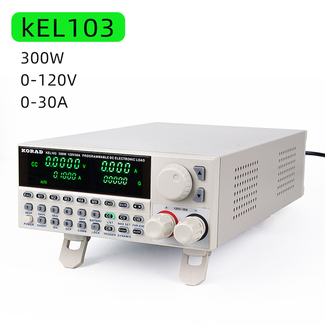 KORAD KEL103 برمجة التحكم الرقمي تيار مستمر تحميل الإلكترونية 300 واط المهنية موصل بطارية كهربائية للسيارة تستر 120 فولت 30A