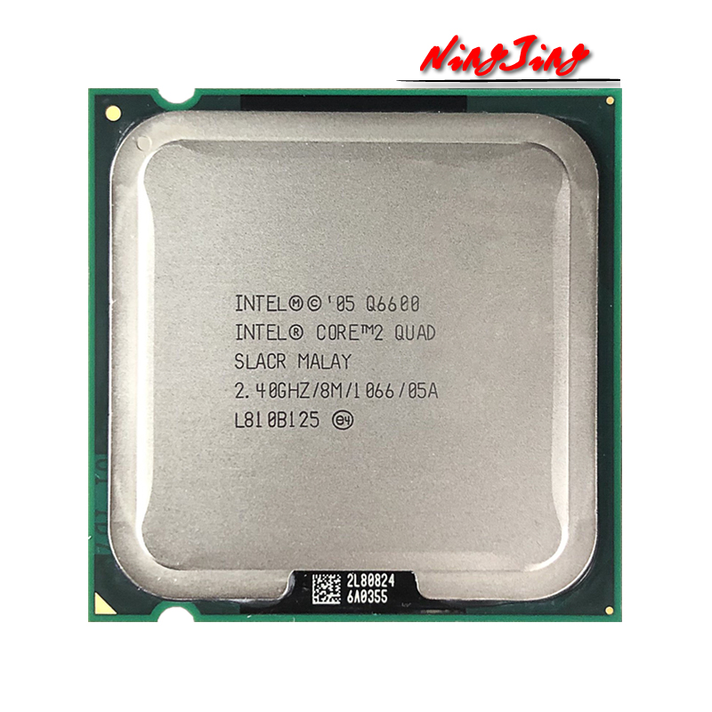 Процессор Intel Core 2 Quad Q6600 2,4 ГГц четырехъядерный четырехпоточный ЦПУ процессор 8 Мб 95 Вт LGA 775
