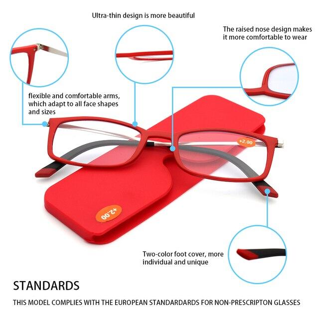 Фото ультралегкие очки для чтения kaedek мужчин и женщин небьющиеся цена