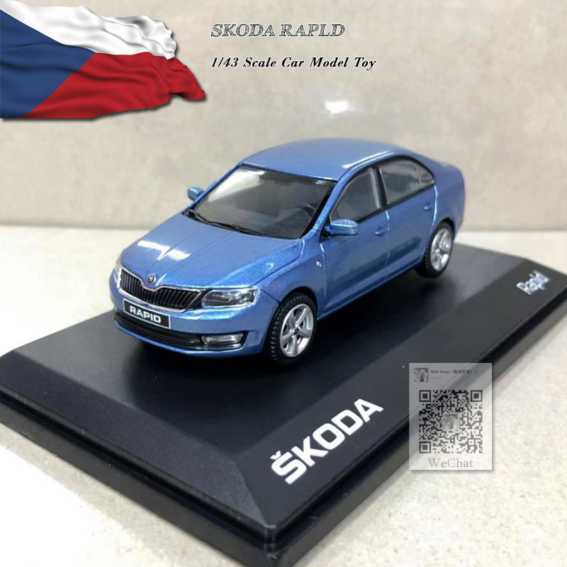 ABREX 1/43 Scale Car Model Toys SKODA RAPLD Diecast Metal Car Model Toy For Collection,Gift,Kids