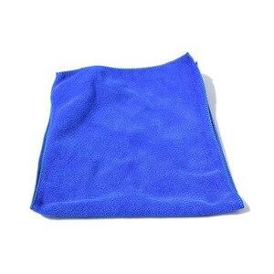 Image 3 - Mikrofaser Reinigung Auto Weichen Tuch Waschen Tuch Handtuch Duster 30*30 cm Auto Hause Reinigung Micro faser Handtücher
