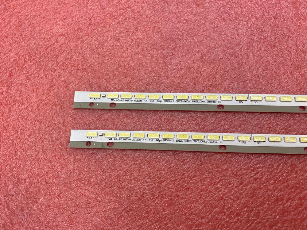 Image 3 - Новая светодиодная лента с подсветкой, 2 шт. * 66LED 597 мм, 47  дюймовый V13 6920 0001C 6916L1009A 6916L1009B для KDL 47R500A 6922L  0043A 0065Astripstrip ledstrip a led