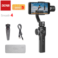 Zhiyun suave 4 3 eixos handheld smartphone cardan estabilizador para iphone 11 pro xs xr x 8 plus samsung s10 s9 + s8 pk dji osmo 2|Estabilizador portátil|Eletrônicos -