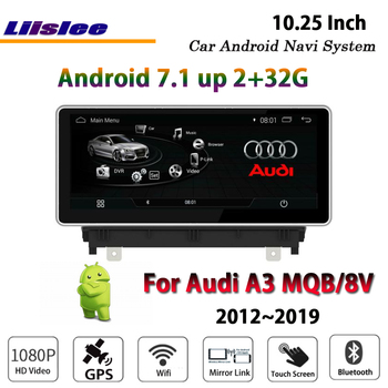 Liislee Car Android 7.1 2G RAM 32ROM For Audi A3 MQB 8V 2012~2019 Radio Video Carplay GPS Navi Map Navigation System Multimedia image