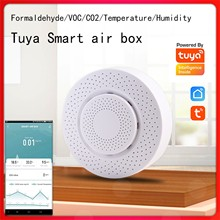 Carbon Dioxide Meter Formaldehyde Voc Temperature And Humidity Sensor Smart Wifi Home Alarm Detector Remotely Monitor