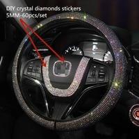 עבור הונדה crv crv קריסטל רכב מדבקות מדבקות היגוי פנים מרכז הגלגל בלינג אביזרים & יהלומים DIY להגדיר עבור j הסכם CRV הונדה סיוויק (2)