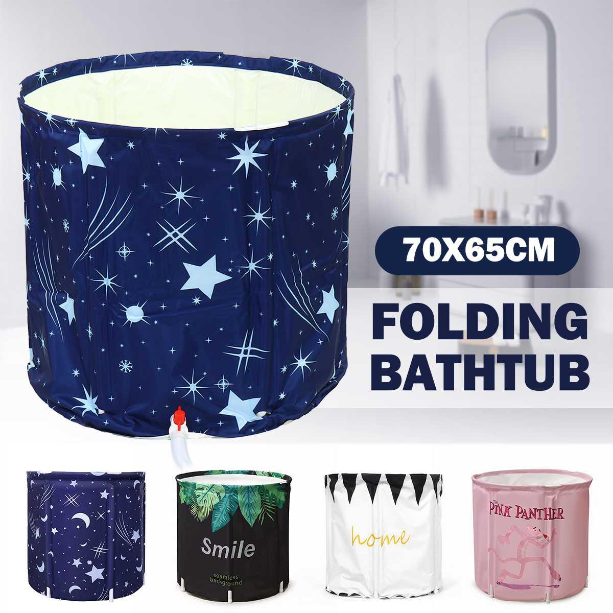 1pcs Foldable Bathtub High quality Thickened Adult Inflatable Bathtub Home Single SPA Massage Pool Plastic Bathing Bucket