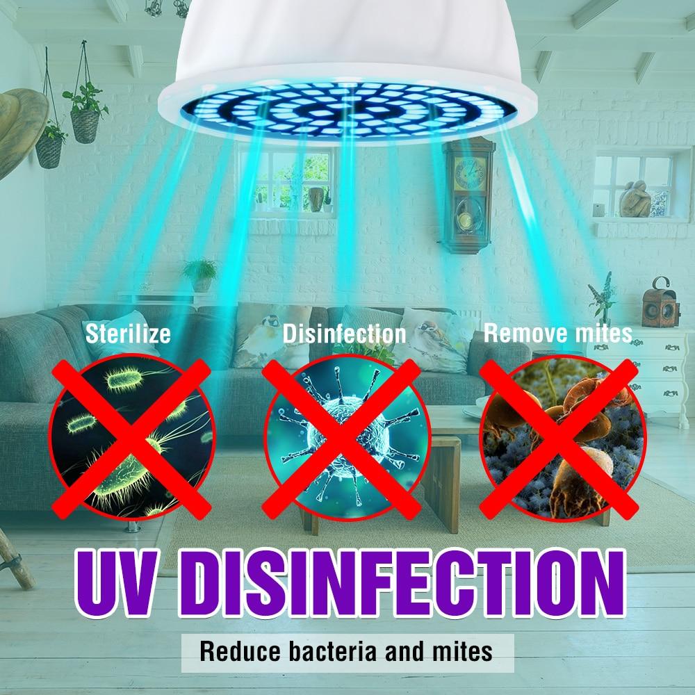 UVC LED E27 Germicidal LED E14 UV Light Sterilizer Lamp GU10 Ultraviolet Disinfection Bulb 220V MR16 LED Bactericidal Lamp B22