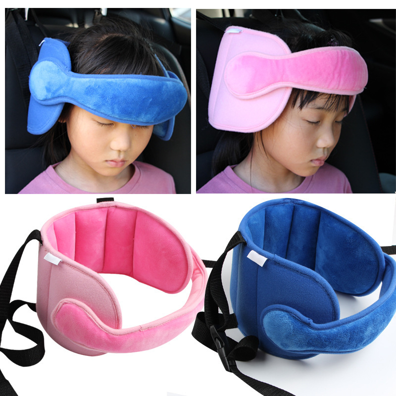 Safe Baby Car Neck Pillow Kids Car Sleep Pillow Adjustable Car Seat Head Support Fixed Sleeping Pillow Neck Protection Headrest