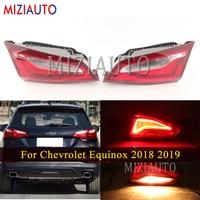 Inner side Rear tail light For Chevrolet Equinox 2018 2019 Brake turn signal light Rear Bumper Fog lamp Car Accessories