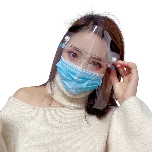 Transparent Adjustable Full Face Shield Plastic anti-epidemic anti-fog safety Mask Flip-up Visor Medical Work Guard 2