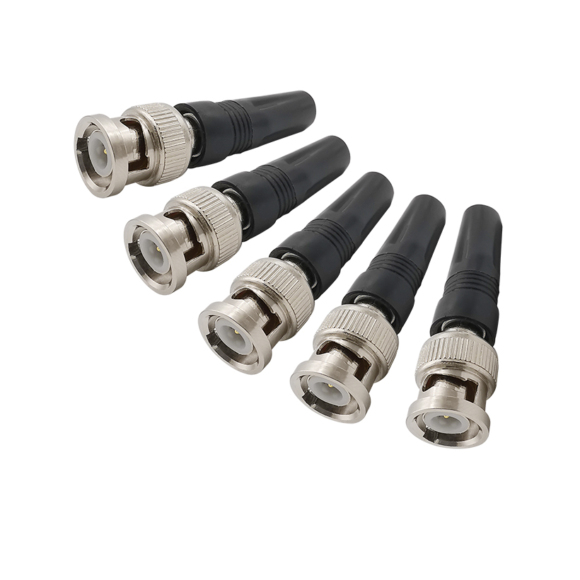 Surveillance BNC Male RF Coaxial Connector Plug Adapter Twist-on Coaxial RG59 Cable For CCTV Camera Video/AUDIO Connector