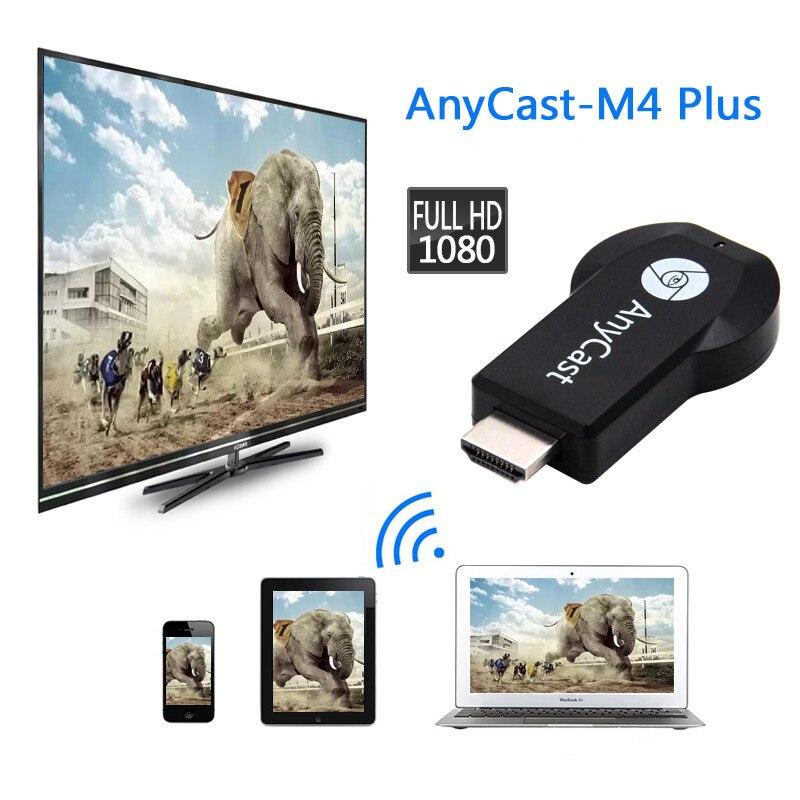 ТВ-приставка Anycast 1080P M4plus Chromecast 2 3 Miracast для DLNA Miracast ТВ ключ хромированный литой WiFi HDMI адаптер для IOS Android