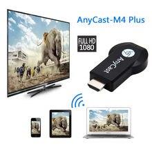 Vara da tevê anycast 1080p m4plus chromecast 2 3 espelhamento para dlna miracast tv dongle chrome elenco wifi hdmi adaptador para ios android
