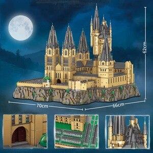16060 Movie House Architecture Harried Hogwart Castle Magic School Building Blocks Set Kids Toys For Children Gift Bricks