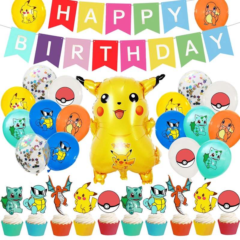 Pokemon Birthday Party Decorations Many Pictures Kawaii Pikachu  Mischievous Charmander Let Children Have An Unforgettable Day