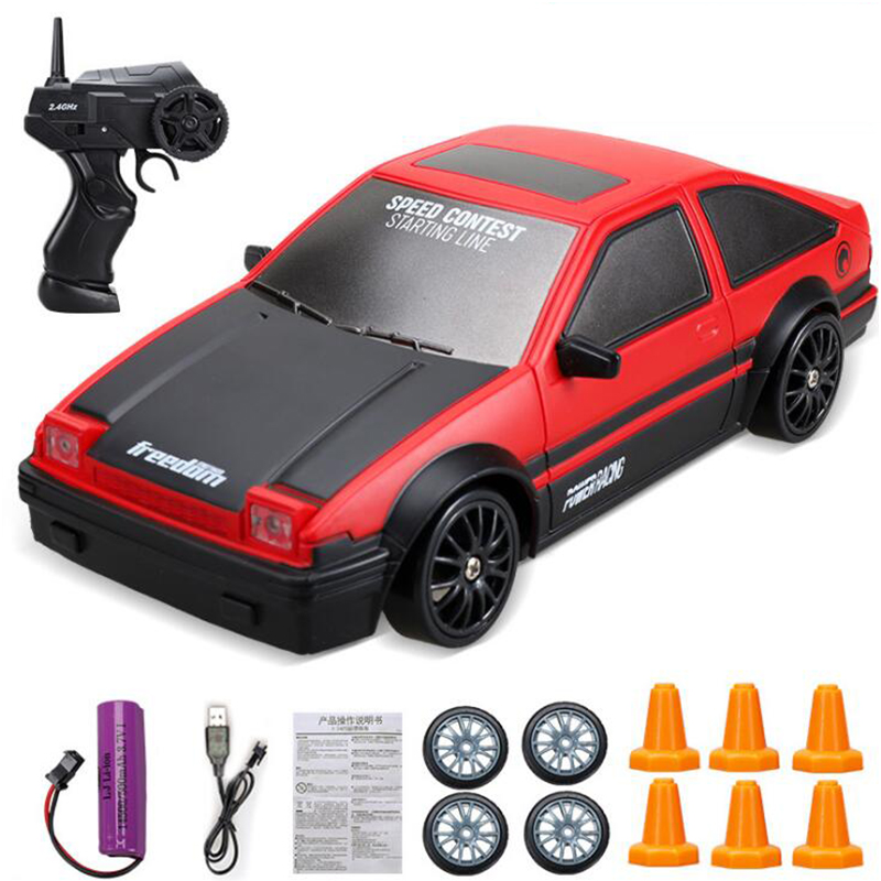 New 1:24 RC Drift Car 2.4G AE86 GTR Model Toys Wireless Remote Control High Speed Drift Racing Car Toys For Boys Gift New Year's